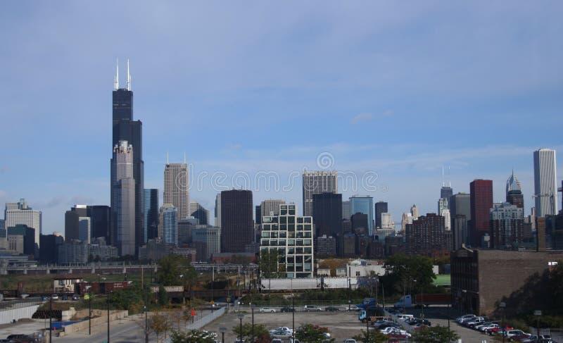 De horizon van Chicago van Zuiden royalty-vrije stock foto