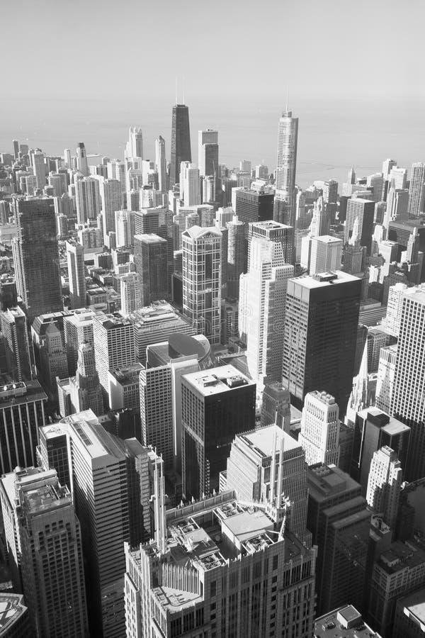 Verwonderlijk De Horizon Van Chicago In Zwart-wit Stock Foto - Afbeelding HB-07