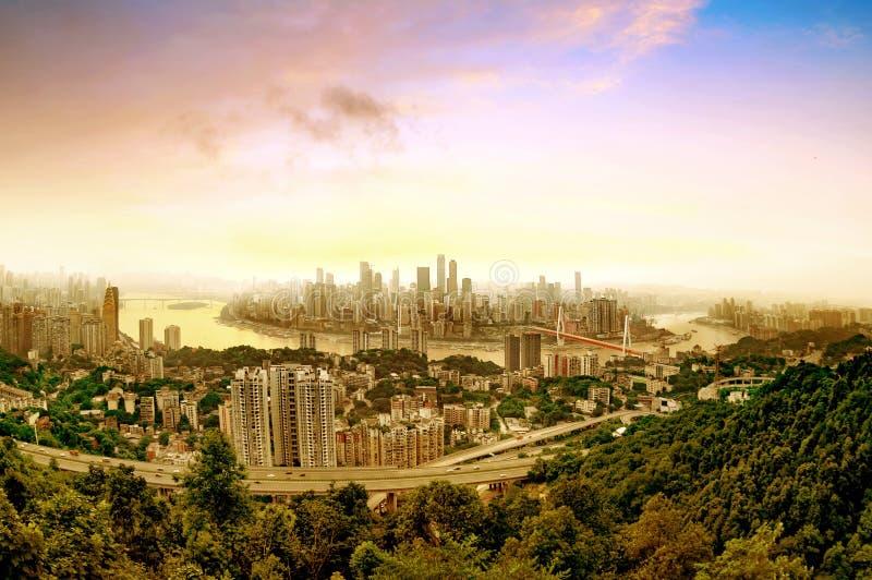 De horizon van de Chongqingsstad royalty-vrije stock fotografie