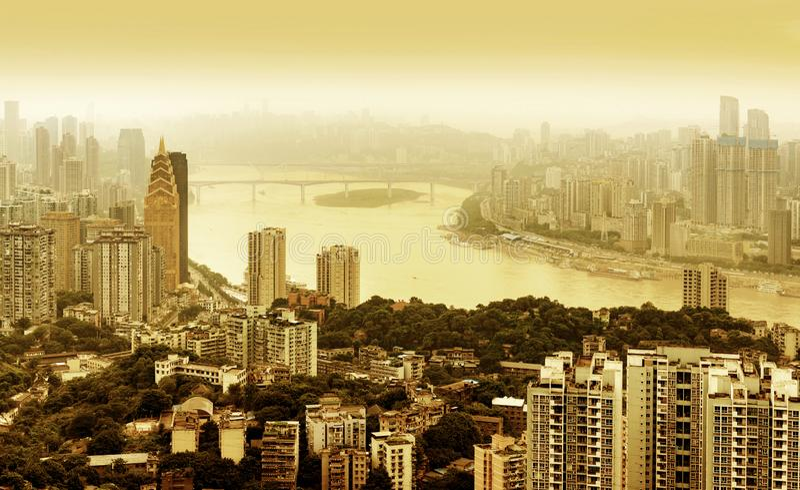 De horizon van de Chongqingsstad stock fotografie