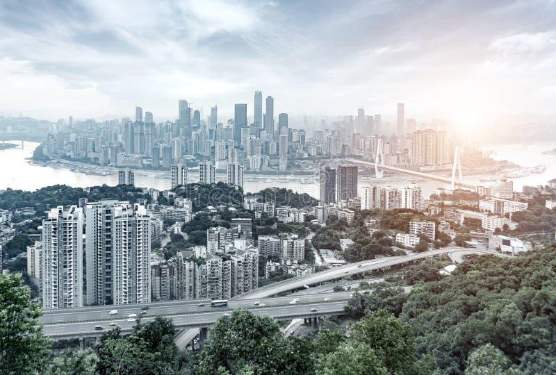 De horizon van de Chongqingsstad stock foto