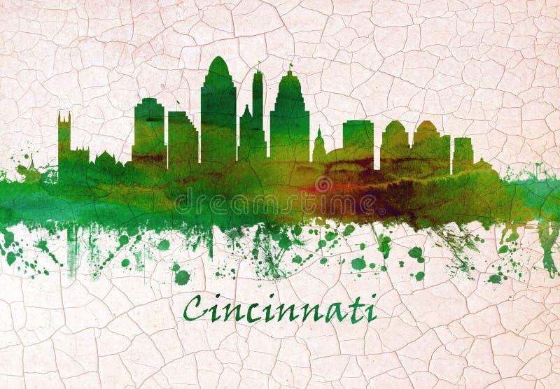 De horizon van Cincinnati Ohio vector illustratie