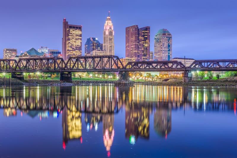 De Horizon van Columbus, Ohio, de V.S. stock afbeeldingen