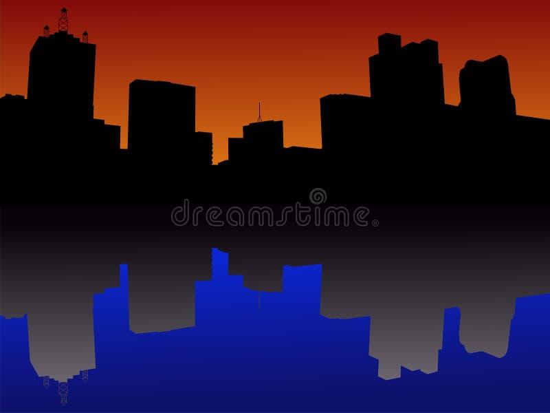 De Horizon van Dallas bij zonsondergang