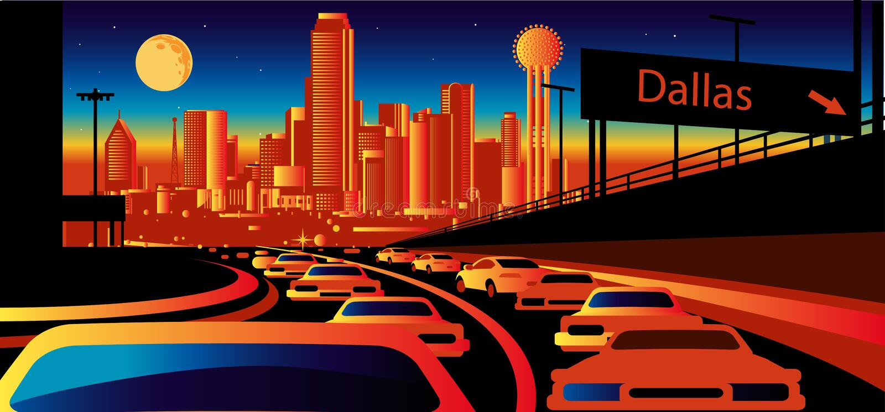 De Horizon van Dallas Texas royalty-vrije illustratie