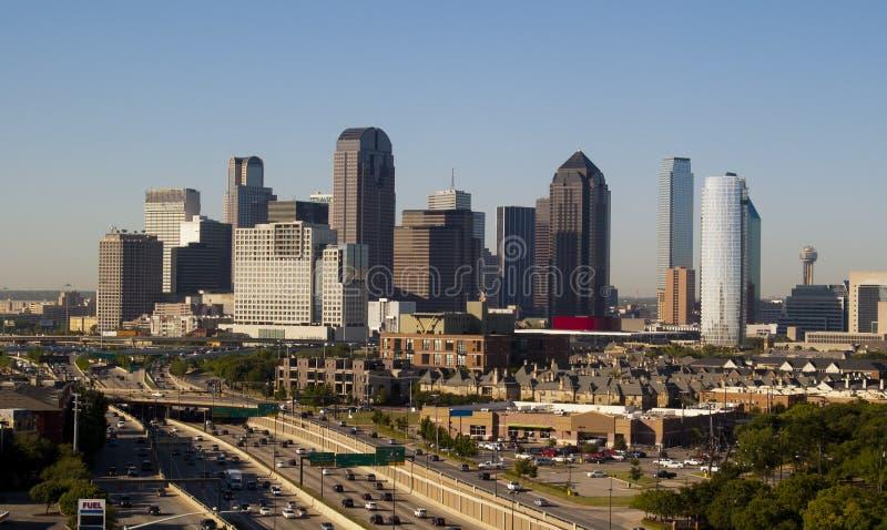 De Horizon van Dallas Texas stock afbeelding