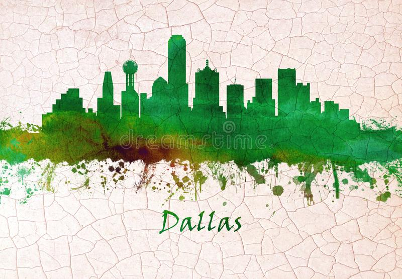 De Horizon van Dallas Texas royalty-vrije illustratie