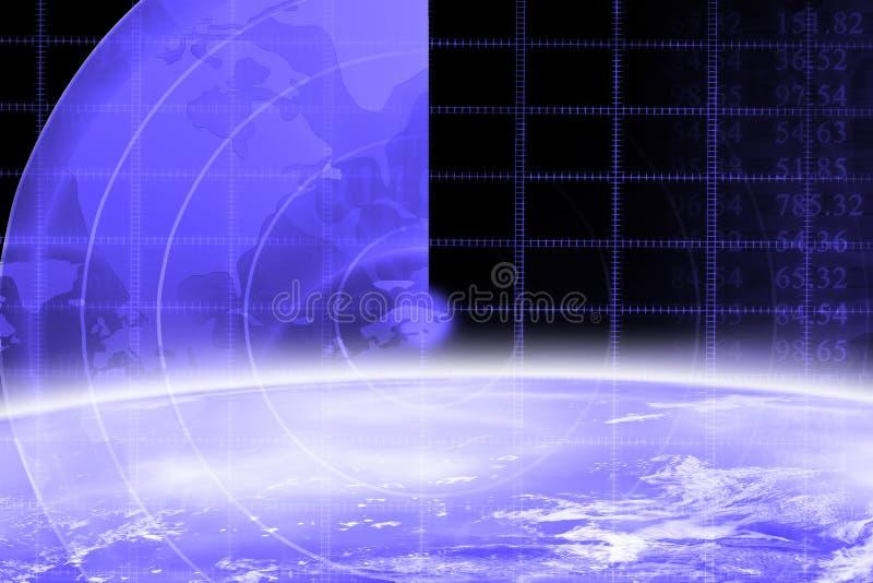 De horizon van de aarde vector illustratie