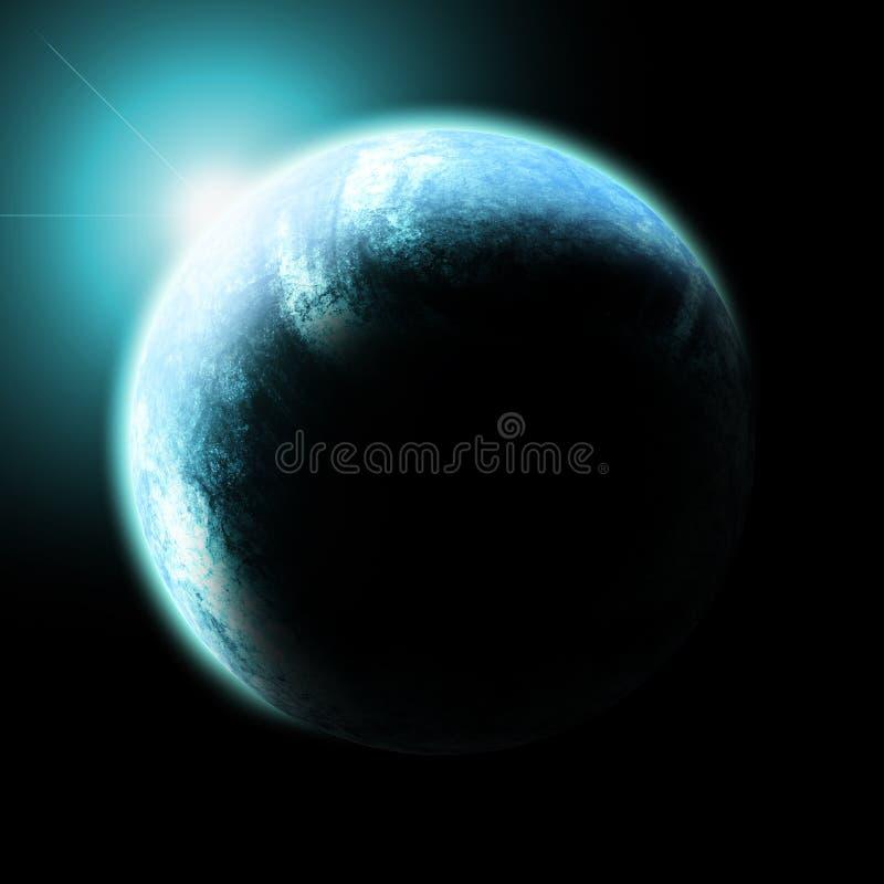 De Horizon van de aarde stock illustratie