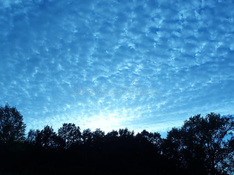 De horizon van de avond stock afbeeldingen