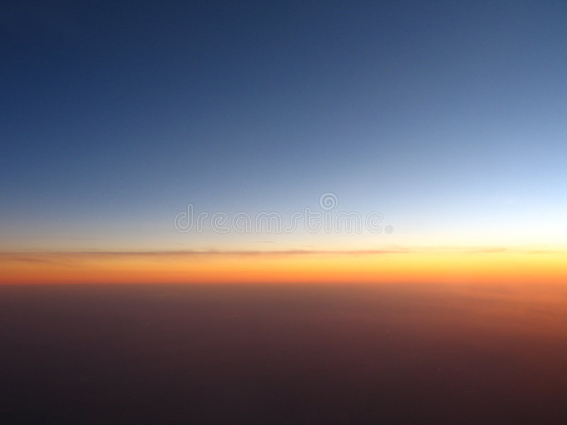 De Horizon van de avond stock fotografie