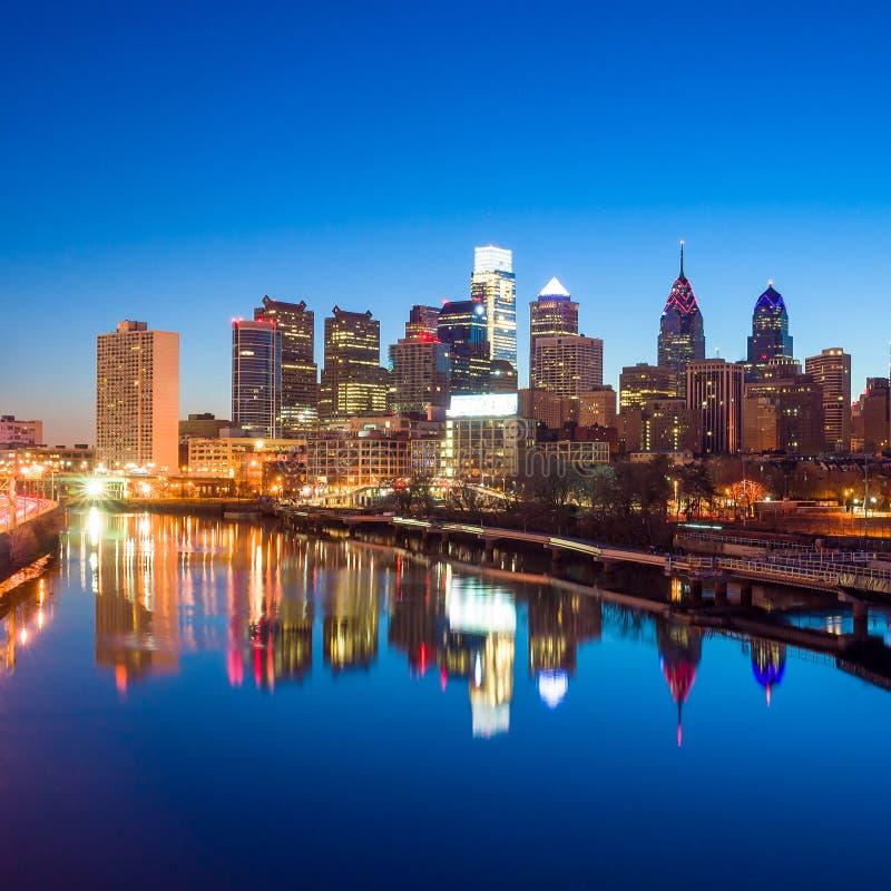 De Horizon van de binnenstad van Philadelphia, Pennsylvania. royalty-vrije stock foto