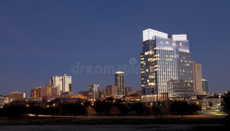 De horizon van de binnenstad van Voet met een waarde van, Texas stock foto's