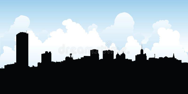 De Horizon van de buffelsstad vector illustratie