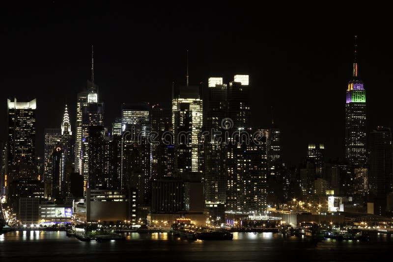 De Horizon van de nacht stock fotografie