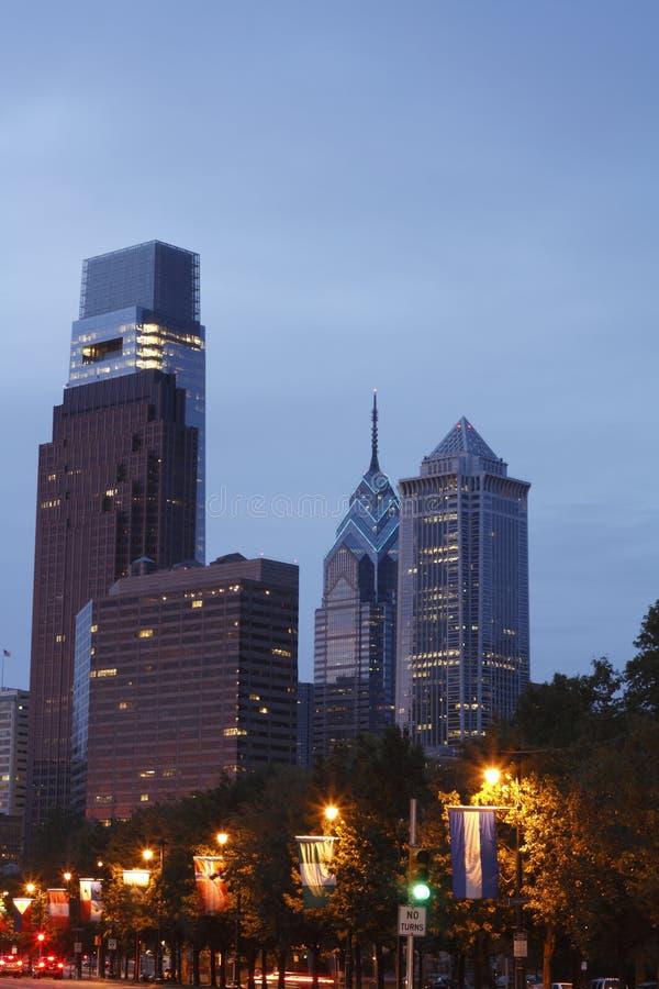 De horizon van de PA van Philadelphia royalty-vrije stock foto's