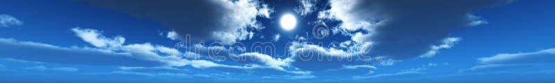 De horizon van de panoramahemel, wolken, stock fotografie