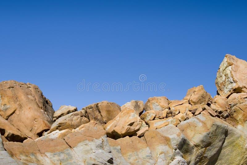 De Horizon van de rots stock afbeeldingen