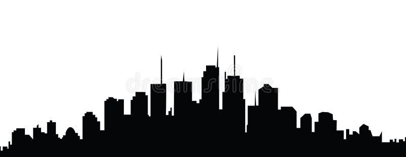 De Horizon van de stad royalty-vrije illustratie