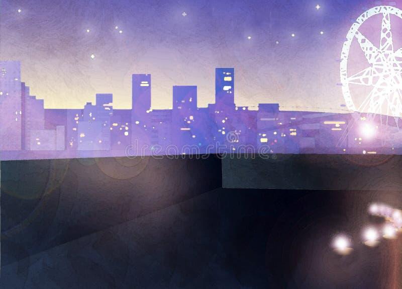 De Horizon van de stad stock illustratie