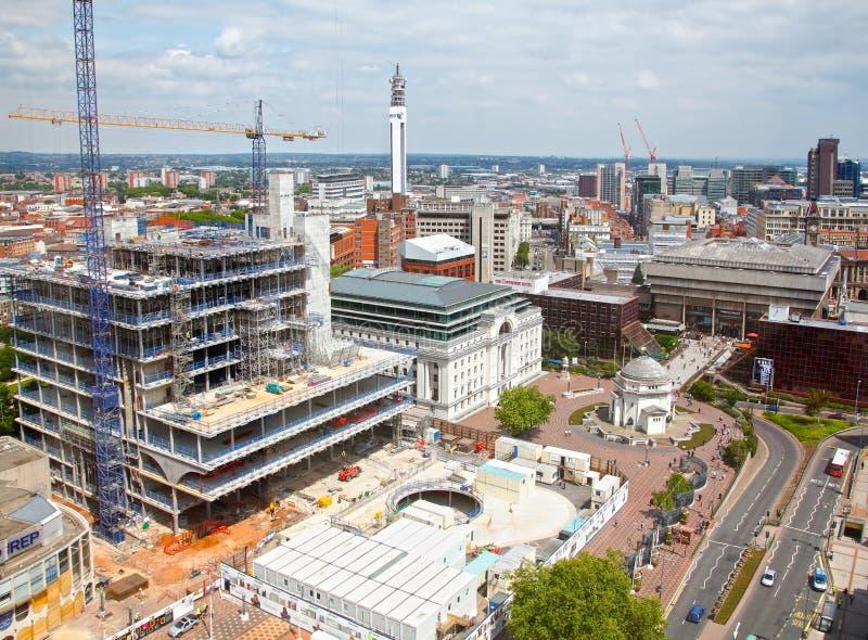 De horizon van de Stad van Birmingham royalty-vrije stock foto