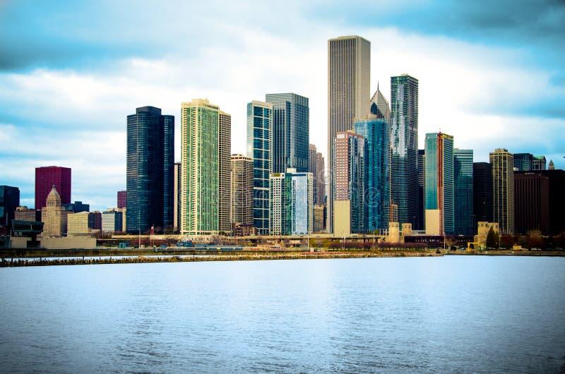 De Horizon van de Stad van Chicago Illinois royalty-vrije stock afbeelding