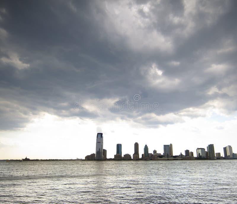 De Horizon van de Stad van Jersey stock foto's
