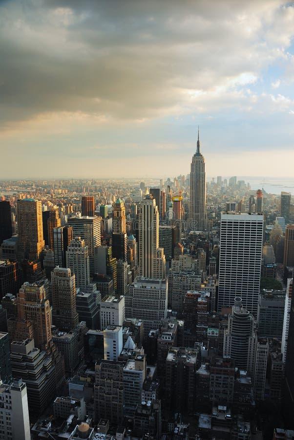 De Horizon van de Stad van Manhattan royalty-vrije stock fotografie
