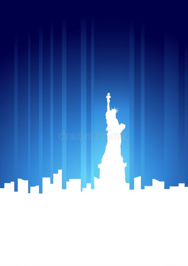De Horizon van de Stad van New York royalty-vrije illustratie
