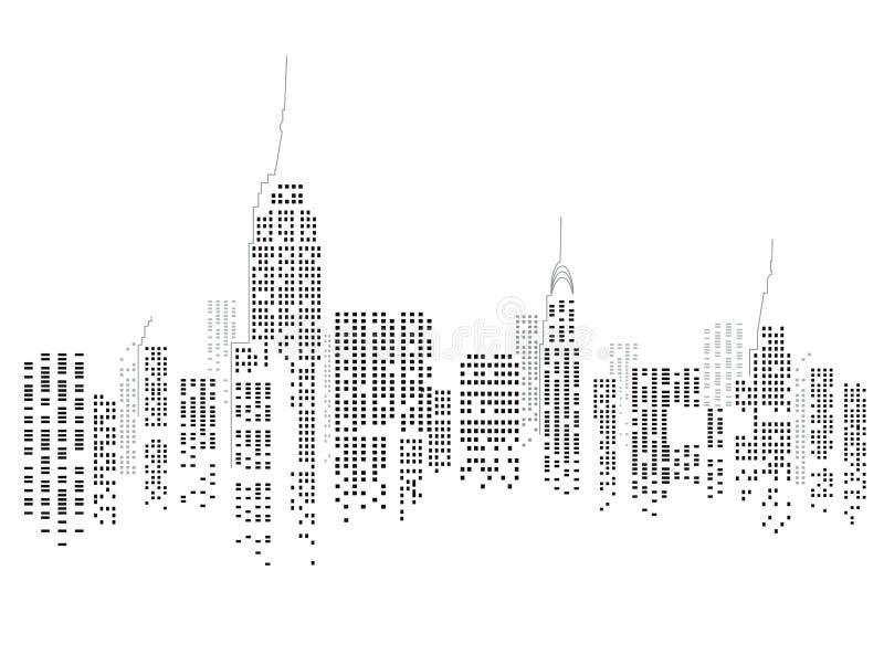De Horizon van de Stad van New York vector illustratie