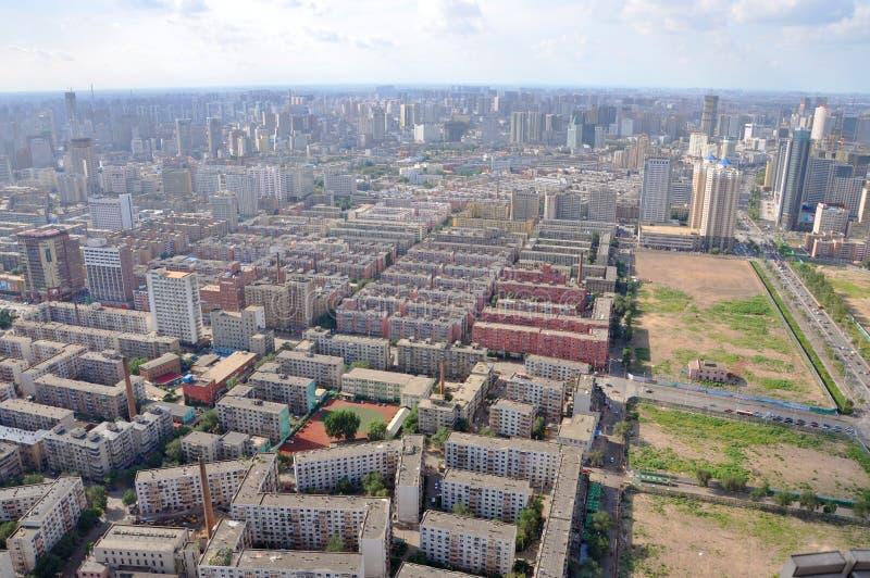 De Horizon van de Stad van Shenyang, Liaoning, China stock fotografie