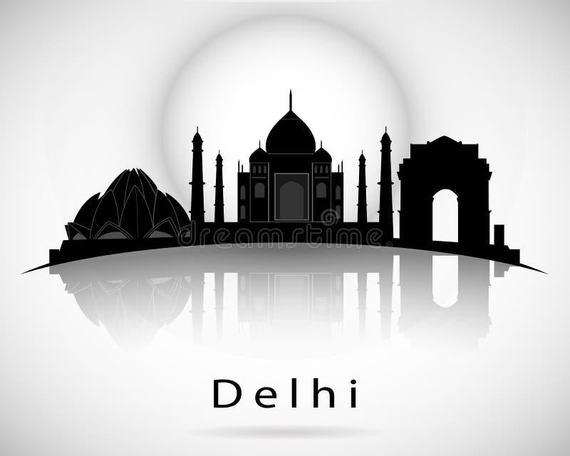 De horizon van Delhi Vector illustratie vector illustratie