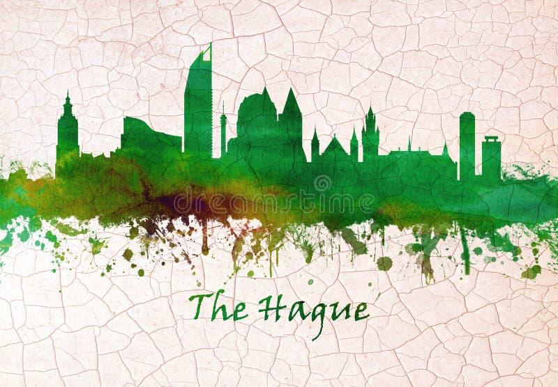 De horizon van Den Haag Nederland vector illustratie