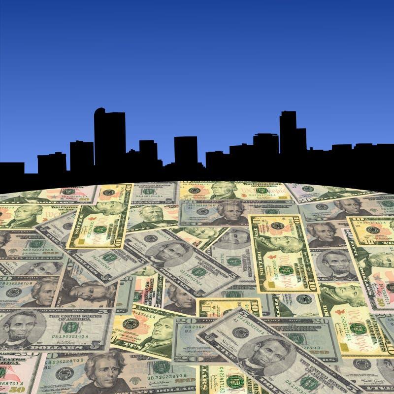 De horizon van Denver met dollars stock illustratie