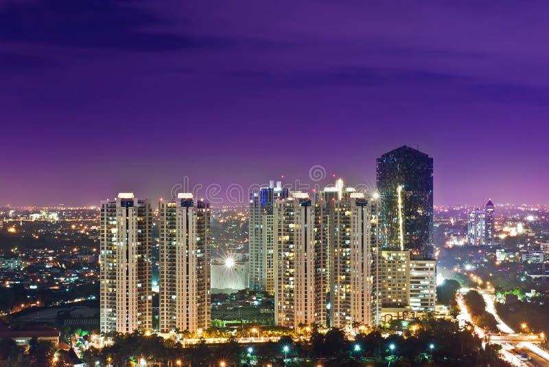 De horizon van Djakarta stock foto