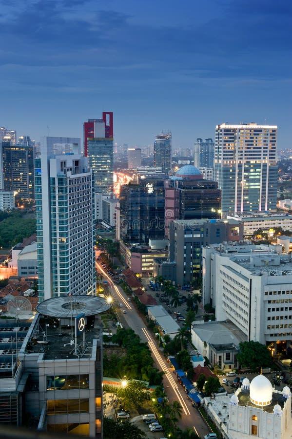 De horizon van Djakarta stock fotografie
