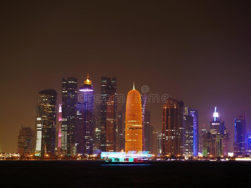 De Horizon van Dohaqatar stock foto's