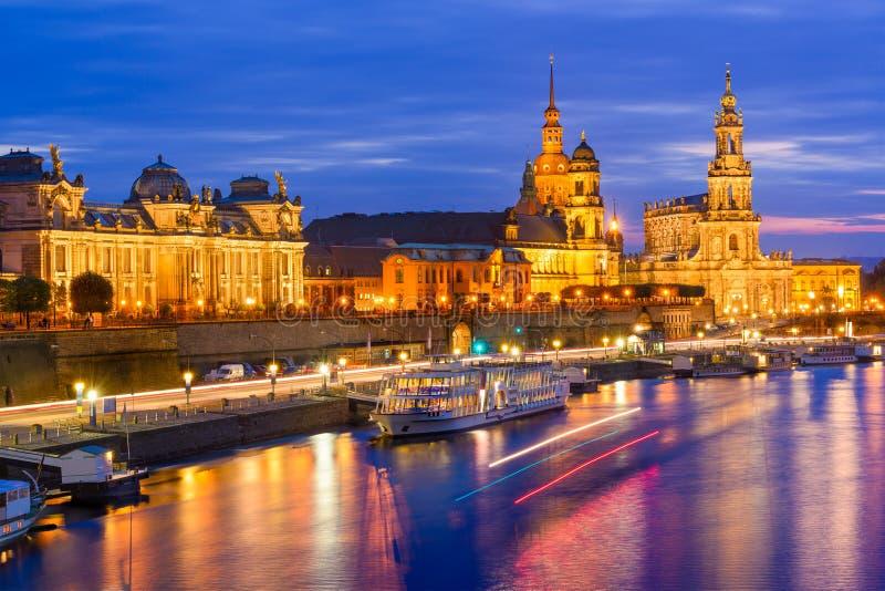 De Horizon van Dresden Duitsland stock afbeelding