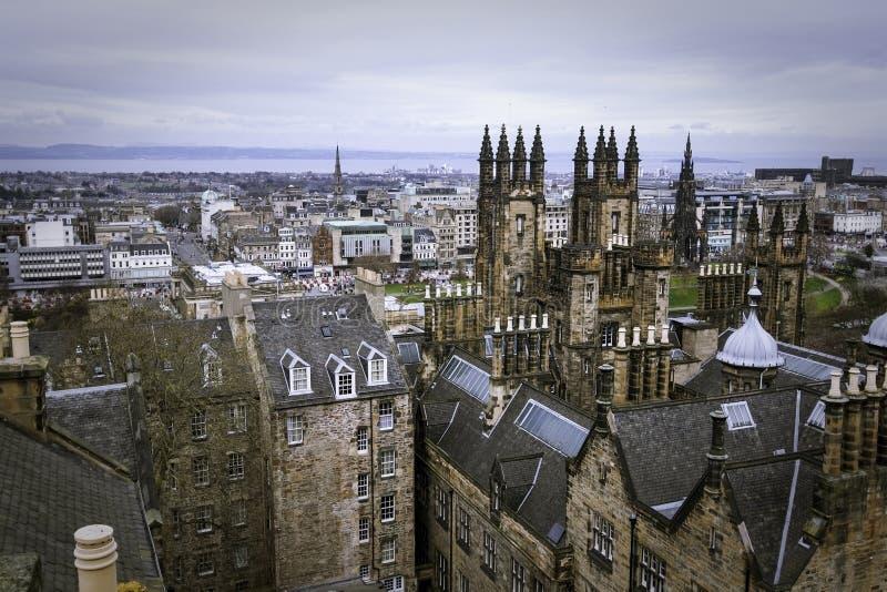De horizon van Edinburgh, Schotland 4/7/12 royalty-vrije stock afbeeldingen