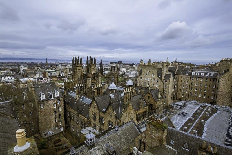 De horizon van Edinburgh, Schotland 4/7/12 stock foto