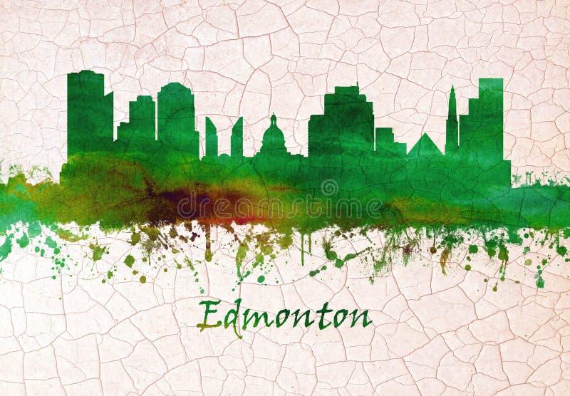 De horizon van Edmonton Canada royalty-vrije illustratie