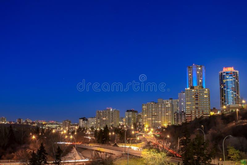 De Horizon van Edmonton het Gloeien royalty-vrije stock afbeeldingen