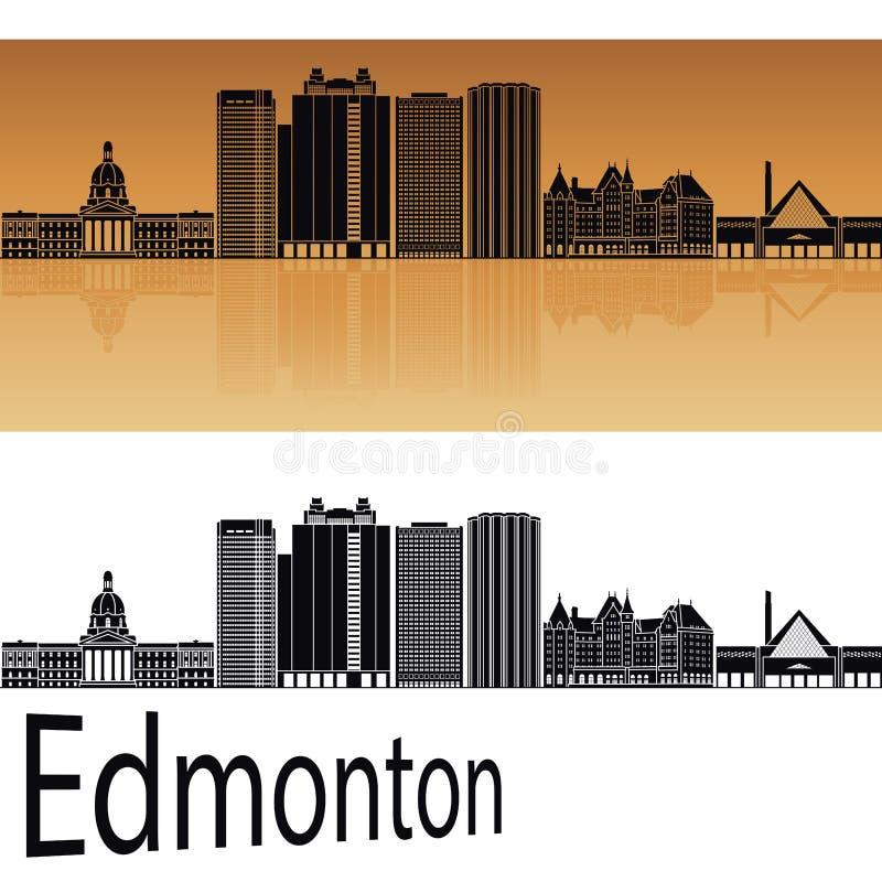 De horizon van Edmonton V2 in sinaasappel stock illustratie