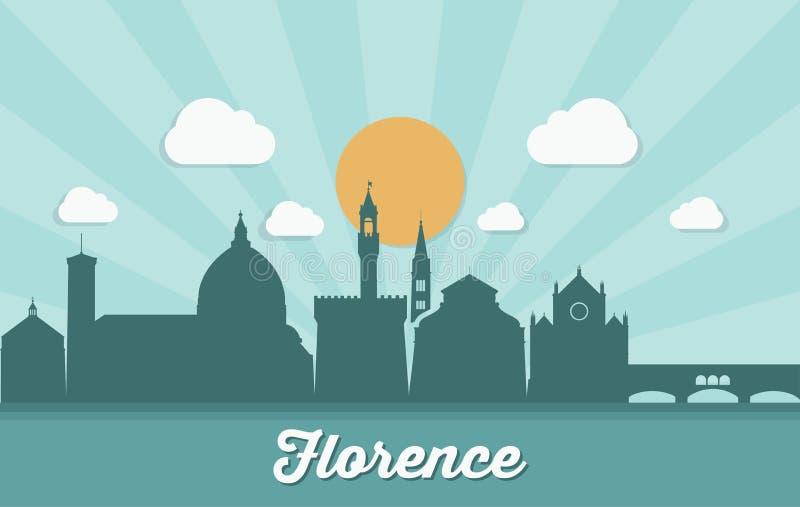 De horizon van Florence - Italië - vectorillustratie stock illustratie