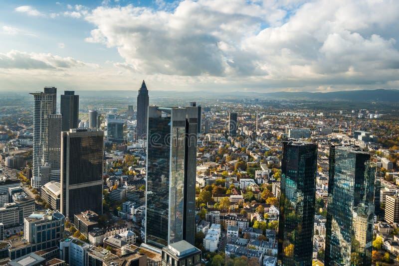 De horizon van Frankfurt Duitsland stock fotografie