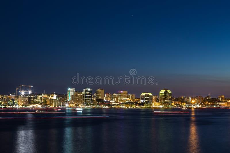 De Horizon van Halifax bij Nacht royalty-vrije stock afbeelding