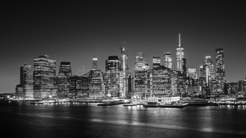 De horizon van het Lower Manhattan royalty-vrije stock fotografie