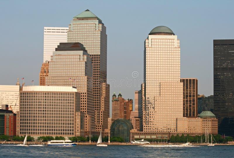 De horizon van het Lower Manhattan stock foto