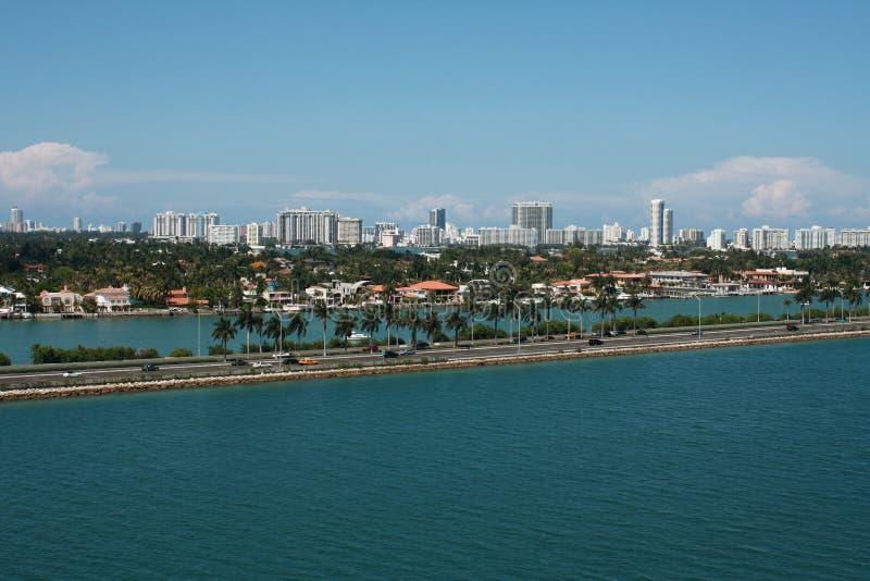 De Horizon van het Strand van Miami stock afbeelding