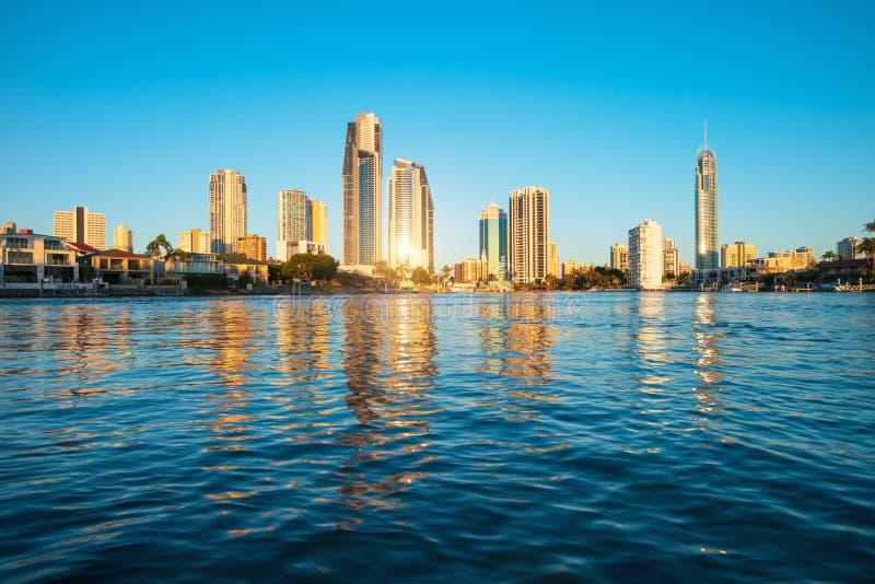 De horizon van het surfersparadijs, Australië royalty-vrije stock afbeelding